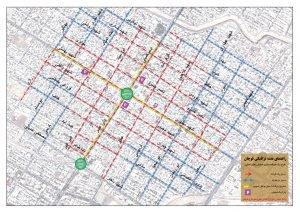 دانلود- نقشه ترافیکی- یک طرفه سازی خیابان های اصلی شهر