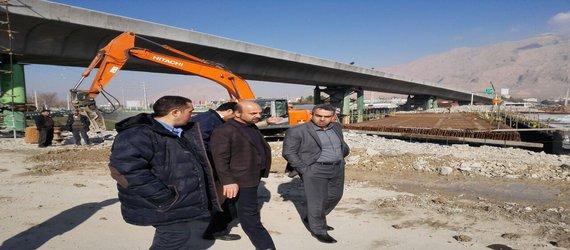 بازدید سرپرست شهرداری کرمانشاه از روند ساخت تقاطع امام حسین(ع)