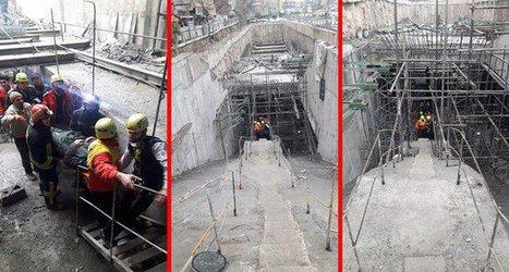 کارگر مصدوم ایستگاه سه راه امین پروژه مترو تحویل عوامل اورژانس شد