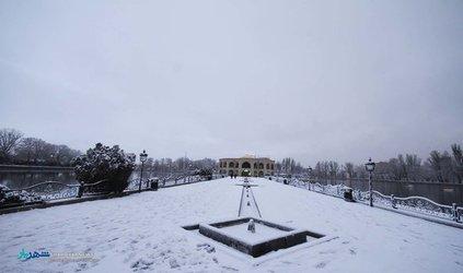 گزارش تصویری : پارک ائل گولی در یک روز برفی