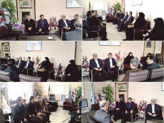 دیدار و گفتگوی اعضای شورای اسلامی شهر و شهردار خوی با علیزاده رییس آموزش و پرورش شهرستان خوی