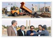 بازدید فرماندار شهرستان شاهین شهر و میمه از پروژه احداث کانال برای هدایت مسیر سیل در شمال غربی شاهین شهر به محل مسیل شهر