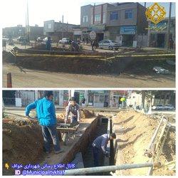 در ادامه عملیات بهسازی خیابان۷۲ تن شهید اجرای کانال عرضی دفع آبهای سطحی