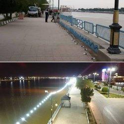 اتمام عملیات تامین روشنایی پیاده رو بلوار ساحلی به طول بیش از دو کیلومتر توسط شهرداری خرمشهر
