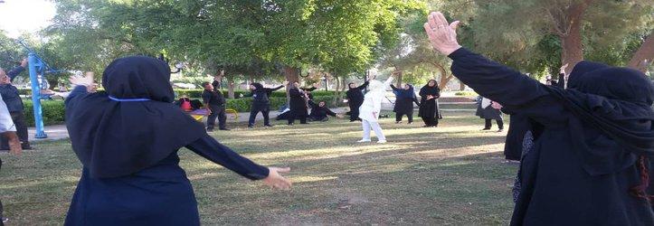 اجرای طرح ورزش صبحگاهی سالمندان، توسط مدیریت فرهنگی ورزشی شهرداری مسجدسلیمان