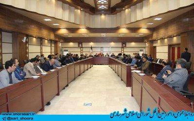 گزارش تصویر از نهمین جلسه شورای اسلامی شهرستان ساری