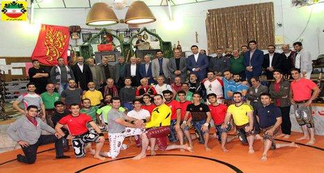 با حضور رئیس و اعضای شورای اسلامی شهر آمل از قهرمانان ورزش پهلوانی و زورخانه ای تجلیل شد