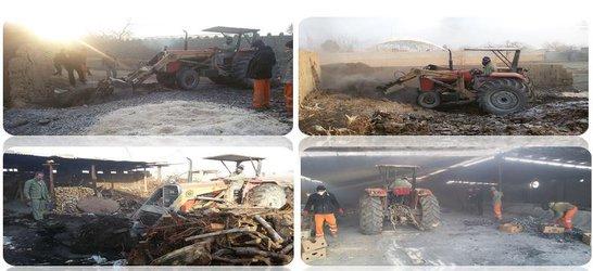 تخریب ۱۳ حلقه چاه و توده غیر مجاز تولید زغال چوب در شهرستان خمینی شهر