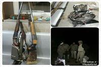 شکارچیانی که در تاریکی شب درناها را به دام می انداختند به همراه دو قبضه اسلحه در ارسنجان صید شدند