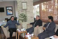 دیدار مدیر کل حفاظت محیط زیست فارس با نماینده مجلس و فرماندار شهرستان فسا