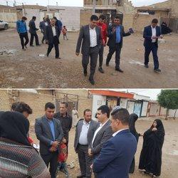 بازدید شهردار خرمشهر از کوی ارمغان و استماع مشکلات شهروندان
