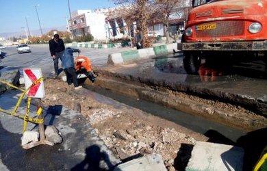 عملیات عمرانی شهرداری در میدان قدس