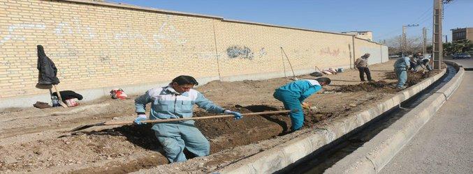 عملیات بازآفرینی و بهسازی بلوار قائم(عج) شهر ساوه