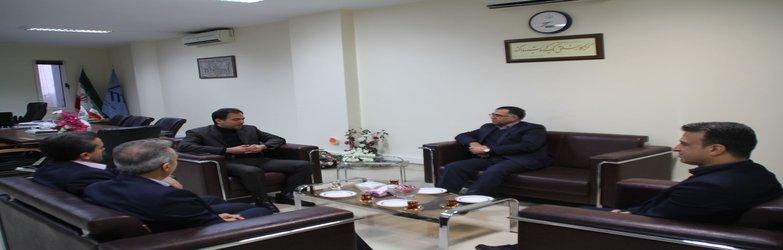 دیدار مدیر شعب بانک مسکن استان با ریاست سازمان