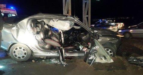 یک کشته و یک مصدوم در تصادف مرگبار جاده تبریز -صوفیان