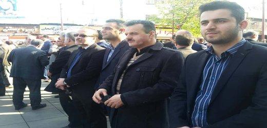 شرکت همکاران واحد  در مراسم  یوم الله ۹ دی