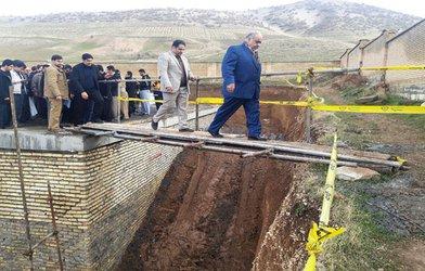 بازدید استاندار از مخزن ۲۰۰۰ متر مکعبی ذخیره آب شهرستان تازه آباد