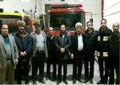 بازدید شبانه مهندس قاسمپور شهردار طالقان از ساختمان آتش نشانی