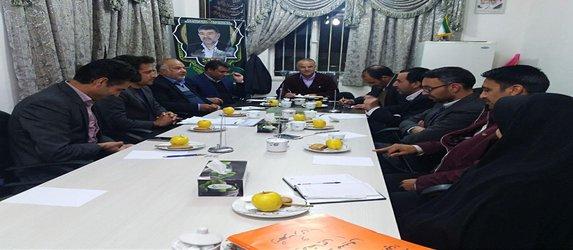 جلسه بررسی عملکرد شهرداری وبررسی مشکلات حوزه شهرداری