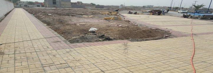 عملیات اجرایی احداث پارک محله ای بوستان توسط شهرداری خرمشهر