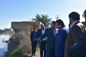 بازدید مدیر کل مدیریت بحران خوزستان از برخی روستاهای حاشیه رودخانه دز