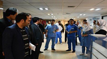 حضور شهردار و اعضای شورای اسلامی شهر در بیمارستان ها و کلنیک های درمانی