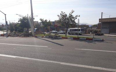 اجرای طرح ترافیکی تقاطع خیابان شهید بهشتی-فجر