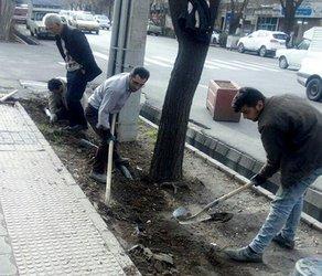 انتقال لوله های شبکه آب خام فضای سبز خیابان ارتش به زیرزمین