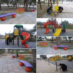 بهسازی پارک غفار نصیری در محله ی مولوی توسط شهرداری خرمشهر