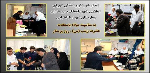 دیدار شهردار و اعضای شورای اسلامی شهر باغملک با پرستاران