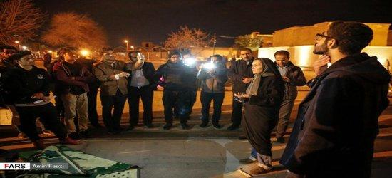 حضور دکتر دودمان در تجمع شبانه دانشجویان بسیجی