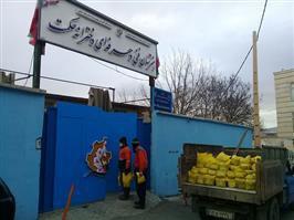 توزیع ۱۰۰۰ کیسه ماسه و نمک در سطح مدارس و مخازن ماسه و نمک شهرداری منطقه دو