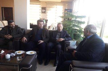 دیدار مدیر امورآب وفاضلاب شهرستان دلیجان با شهردار جدید دلیجان