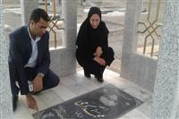 ادای احترام مدیرکل حفاظت محیط زیست استان کرمان به مقام شامخ شهدا در بهشت زهرای شهرستان قلعه گنج