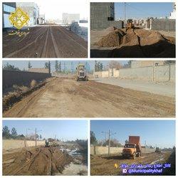 عملیات  مخلوط ریزی و تسطیح خیابان ولیعصر ۱۲ و خیابان تلاش