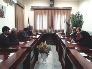 دیدار اعضای شورای شهر بهمراه شهردارزابل با رئیس وکارکنان دانشگاه آزادزابل