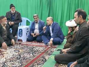 حضور مهندس مهدلو شهردار زرند در جمع نمازگزاران منطقه ریحان