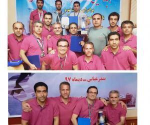کسب رتبه برتر تیم آمادگی جسمانی صنعت آب و برق استان مرکزی در مسابقات کشوری