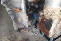 پلمب  ۳ واحد کوره غیر مجاز تولید ذغال با حکم قضایی در ملارد