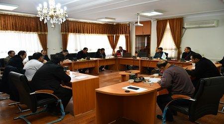 جلسه کارگروه پدافند غیر عامل در شهرداری میانه