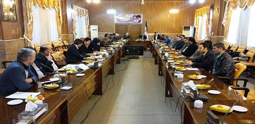 برگزاری جلسه ستاد بازآفرینی شهری در دفتر جلسات فرمانداری تاکستان