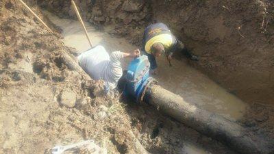 رفع مشکل آب شرب مشترکین اطاقور شهرستان لنگرود