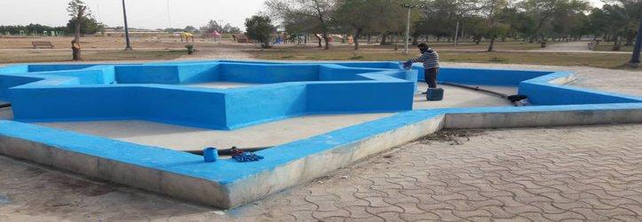 آغاز بهسازی آبنماهای سطح شهر توسط شهرداری خرمشهر