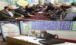 استقرار میز خدمت برق  در روستای حسن آباد شهرستان سمنان