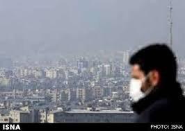 وضعیت هشدار آلودگی هوا برای افراد حساس در ۵ نقطه شهر