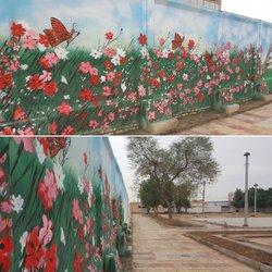 نقاشی و رنگ آمیزی دیوار جنب پارک جدیدالاحداث اردیبهشت