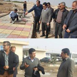بازدید شهردار خرمشهر از پروژه احداث پارک خطی و کارخانه آسفالت شهرداری خرمشهر
