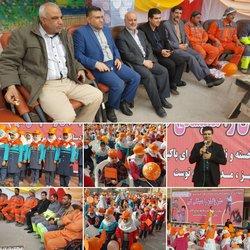 برگزاری همایش پاکبانان توسط شهرداری خرمشهر با حضور پرشور دانش آموزان مدارس