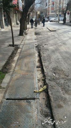 سرپوشیده کردن جدول خیابان شهید قندی( قصر) به