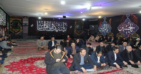 مراسم افتتاح عزا حانه حضرت زهرا سلام الله علیها